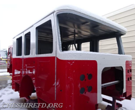 The completed cab has been painted and will be outfitted with electrical and interior work during the next 2 weeks.