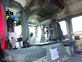 The interior of the crew cab area is nearly complete.