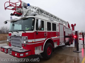 Once the aerial ladder was installed, the truck then moved to ladder testing.