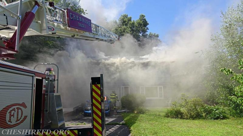 First-arriving personnel found a substantial amount of smoke emanating from the residence.