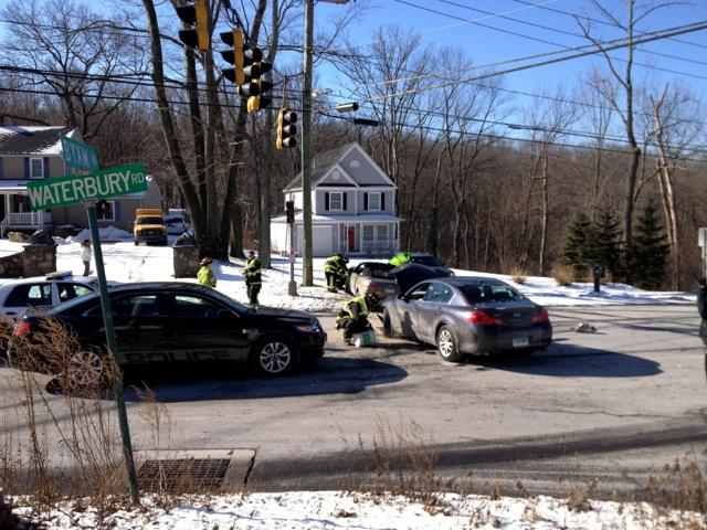 Cheshire fire fighters respond to motor vehicle collision for Department of motor vehicles waterbury ct