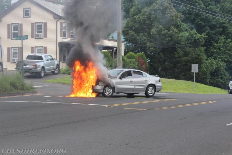 Vehicle Fire On Waterbury Road Cheshire Fire Department